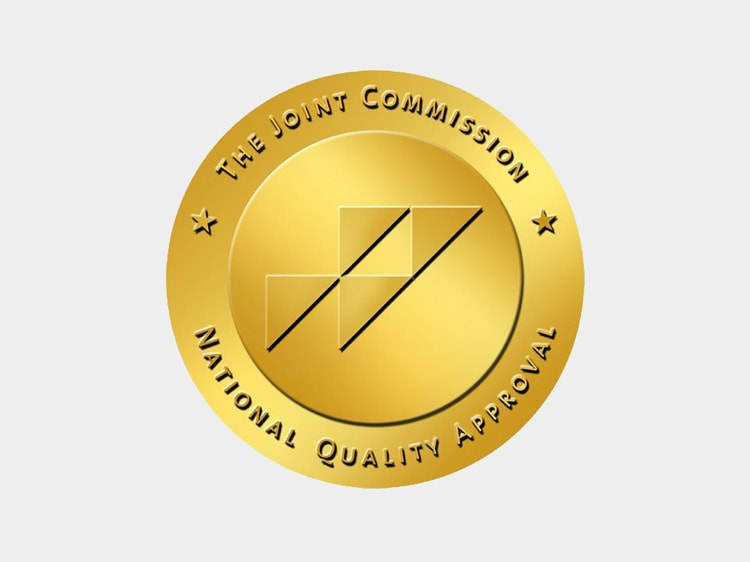 Gráfico con la inscripción: The Joint Commission National Quality Approval