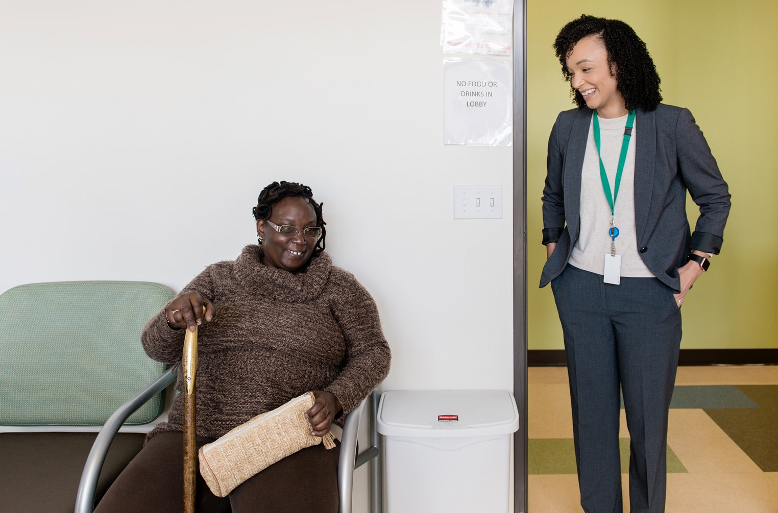 Dr. Yamanda Edwards and a patient
