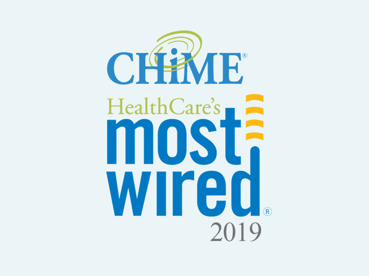 Ganador del premio HealthCare's Most Wired en 2019