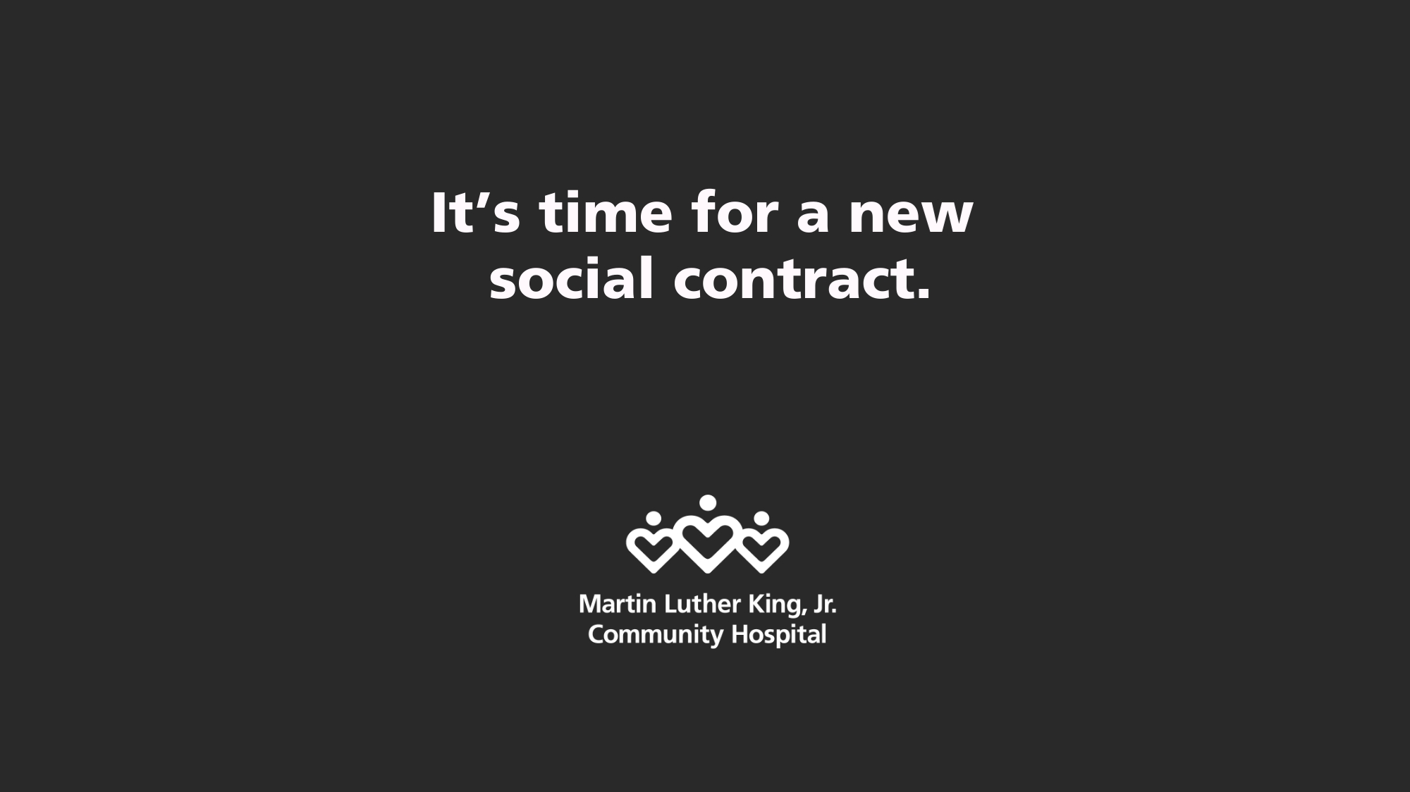 "Photo of text that reads ""It's time for a new social contract."""