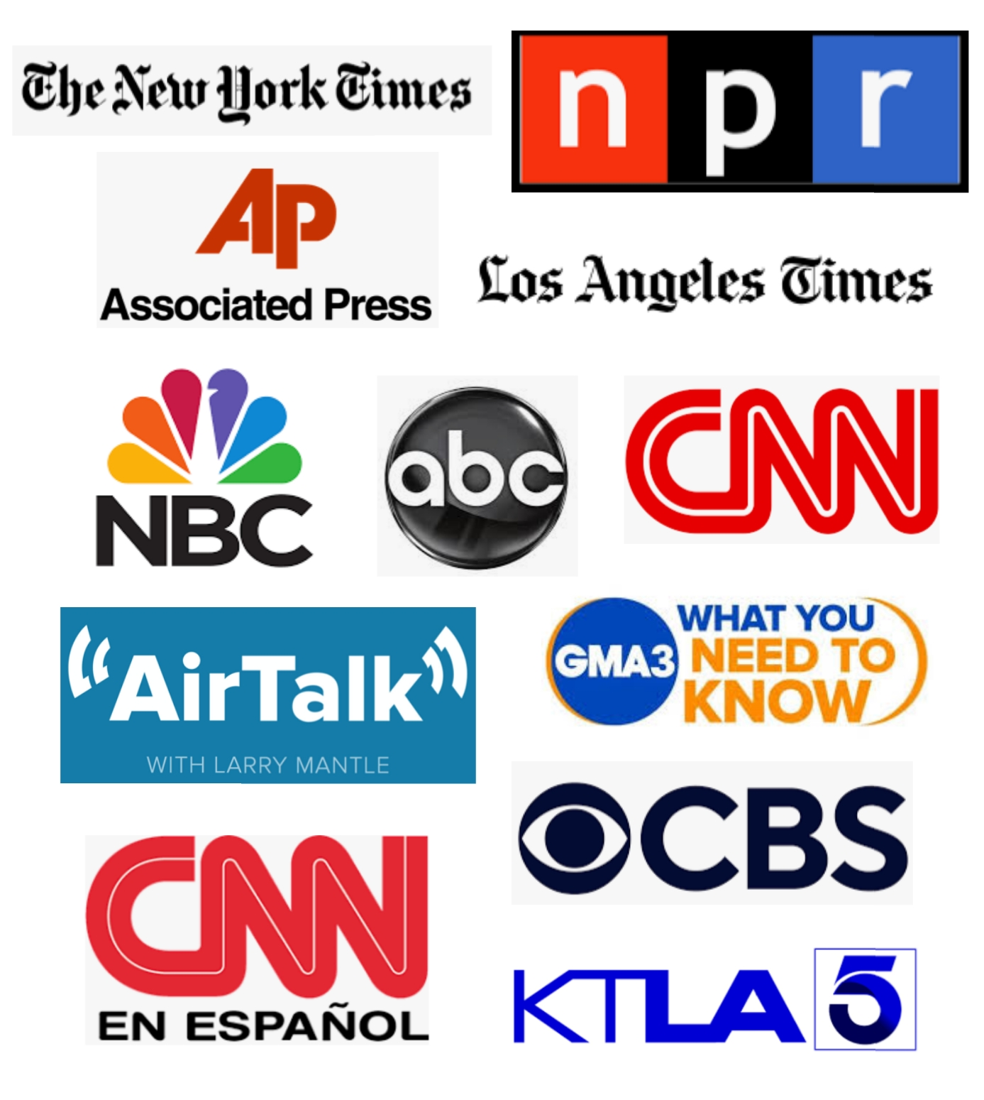 Photo of media outlet logos